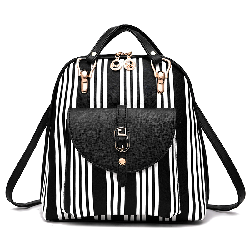 Summer New luxury 2017 Women Backpack with Purse Bag Female PU Leather Embossing High Quality School