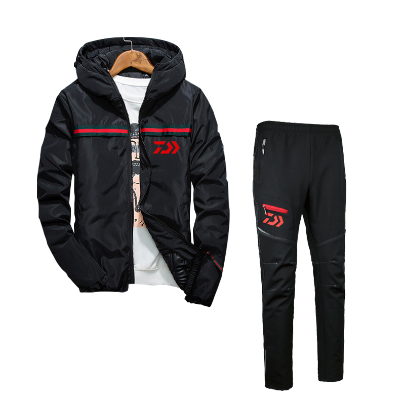2017 High Quality Fishing Clothing Sets Men Breathable Outdoor Sportswear Suit Winter Fishing Shirt and Pants  FS041 2016 daiwa warm fishing clothing sets men breathable sun uv protection outdoor sportswear suit fishing shirt fishing pants