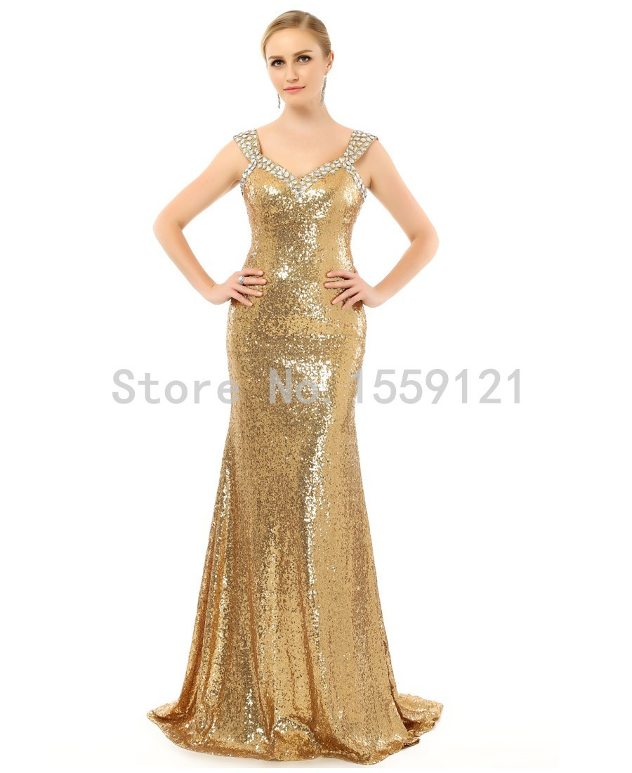 Popular Gold Evening Gowns Prom Gowns-Buy Cheap Gold Evening Gowns ...