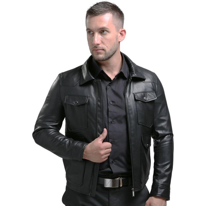 Bomber style leather jacket