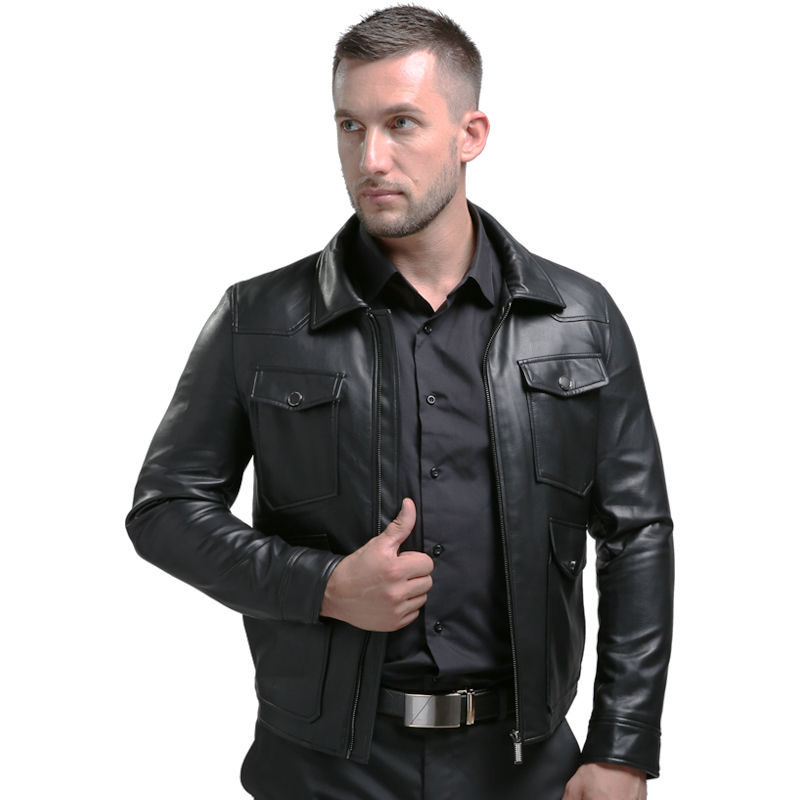 Popular Faux Leather Bomber Jacket Men-Buy Cheap Faux Leather ...