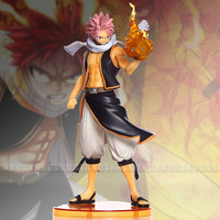 Hot Sale Fairy Tail Etherious Natsu Dragneel Fire Fist 23cm Figure Figurine Toys Comic Anime Mashima Hiro