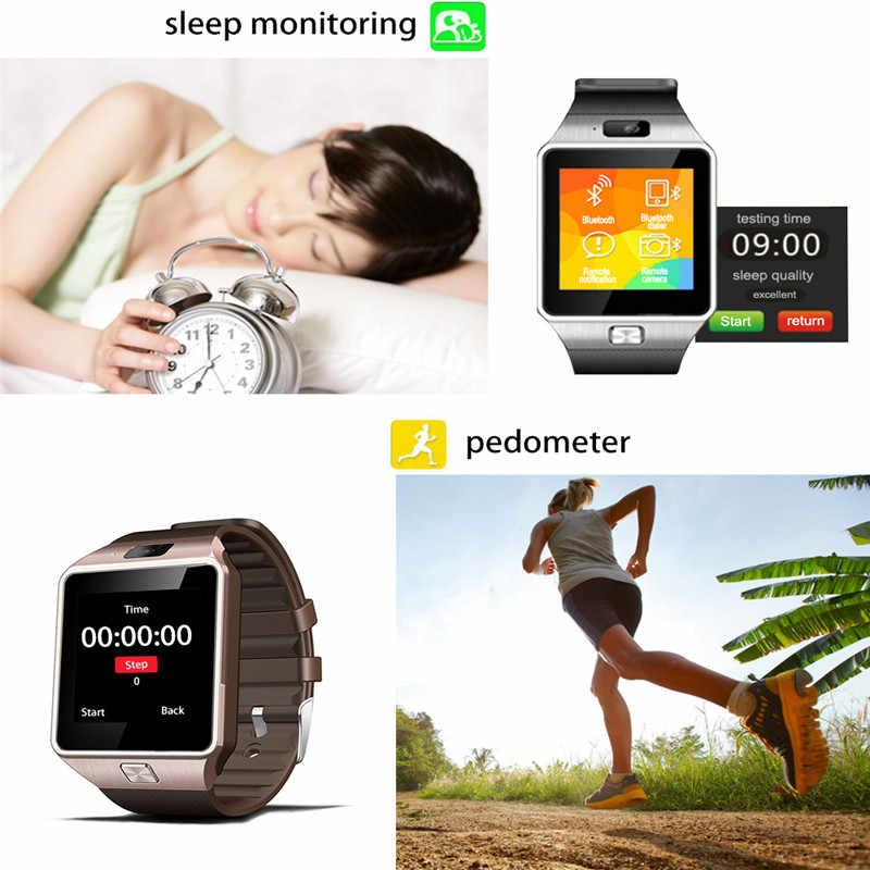 Смарт часы DZ09 Bluetooth для женщин мужчин Smartwatch Android телефонный звонок Relogio 2 г GSM SIM карты памяти камера для iPhone samsung huawei