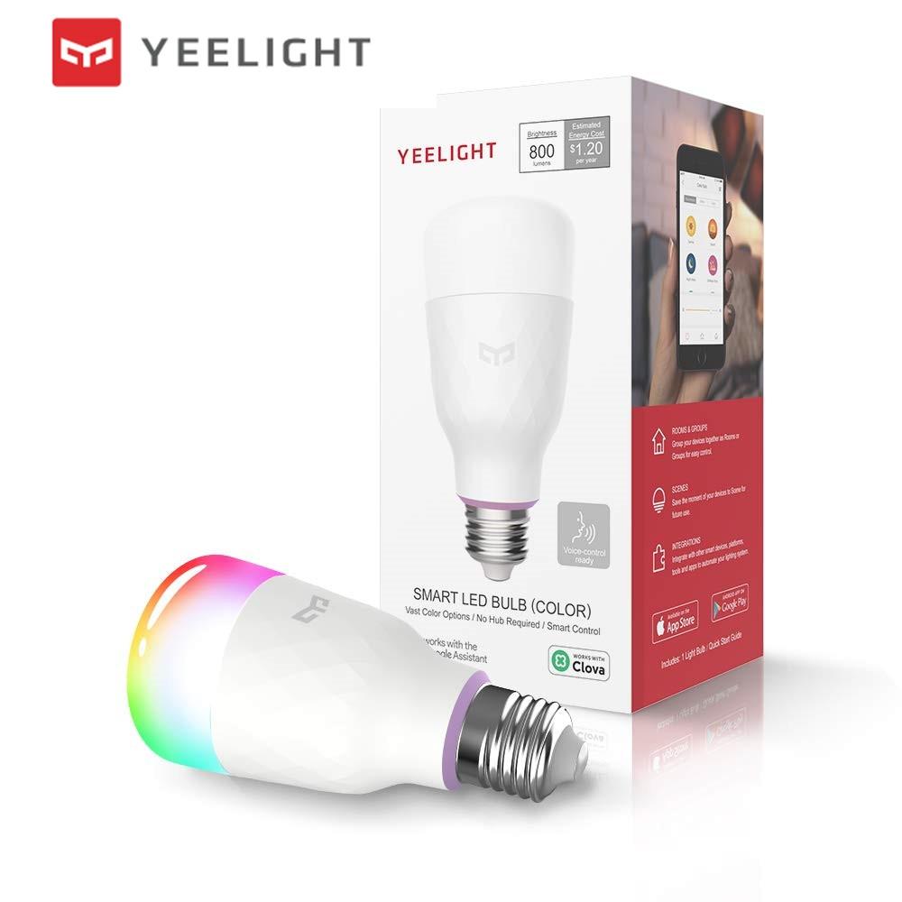(Update version) Original Xiaomi mijia yeelight smart LED bulb colorful 800 lumens 10W  E27 Lemon Smart bulb For mi home App mt everest whiskey glasses