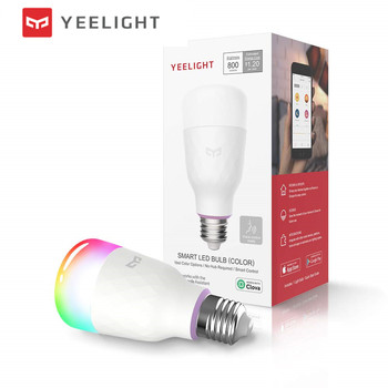 (Version mise à jour) Original Xiao mi jia yeelight ampoule LED intelligente coloré 800 lumens 10 W E27 citron ampoule intelligente pour mi home App