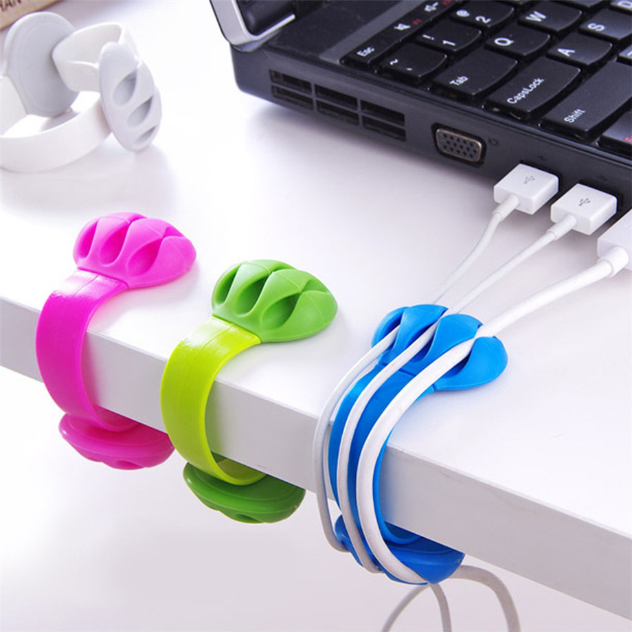 HOT sale Multifunction Cute Headphone Office Headset Wire Wrap Cord Winder Organizer Cable Collector Silica Dropshipping A35