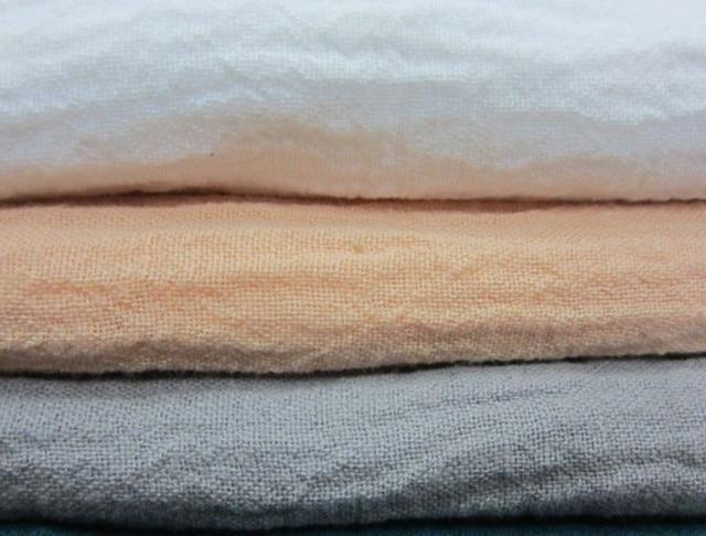lc11899 gewassen crinkle 55% linnen 45% katoen linnen stof 140 cm