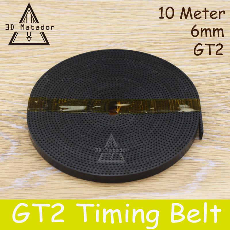 3D Printer accessories 10meter 10M GT2-6mm open timing belt width 6mm GT2 2GT-6MM For reprap i3 Kossel Mendel Rostock hictop 5 meters gt2 timing belt for reprap 3d printer prusa i3