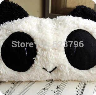 Kawaii Plush Fluffy Panda Estudante Caneta Lápis BAG Bolsa Case Pack pingente Cosméticos & Beleza Bolsa Case Bag Coin Purse Carteira BOLSA