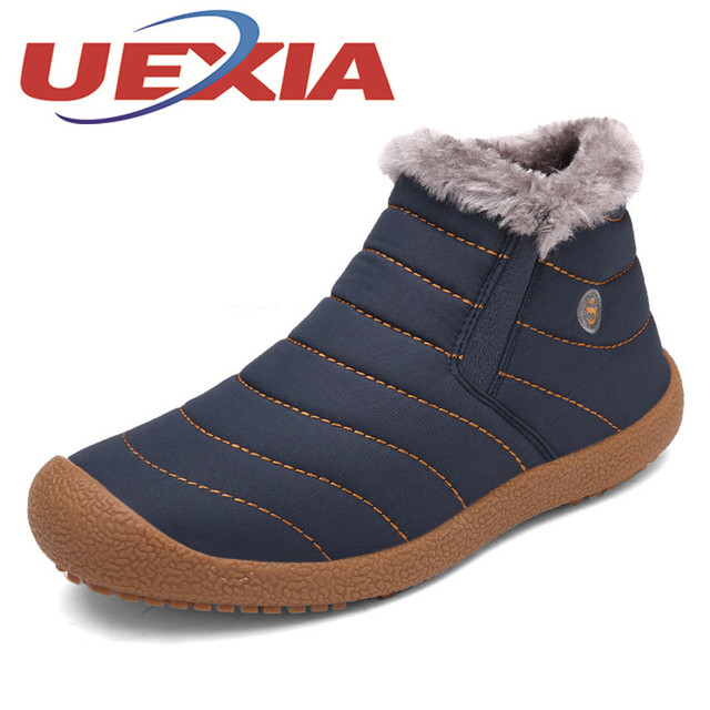 dfde0a3cf87e7 US $43.88 |Winter Unisex Casual Snow Boots Lightweight Plush Ankle Boots  For Men Lovers Outdoor Fashion Warm Shoes With Fur Botas Mujeres-in Snow ...