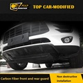 Free Shipping Carbon Fiber  Front and rear bumper guards for Porsche Macan, car bumpers tunning accessories