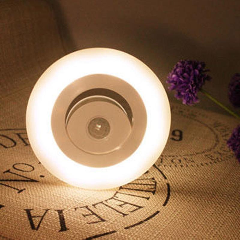 Auto Night Light Body Sensors LED Light Motion Detector warm white wardrobe Bedside Room Emergency Lamp
