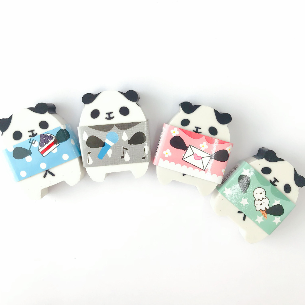 1X Kawaii Panda Eraser Mini School Supply Student Stationery Writing Drawing Correction Rubber Kids Gift