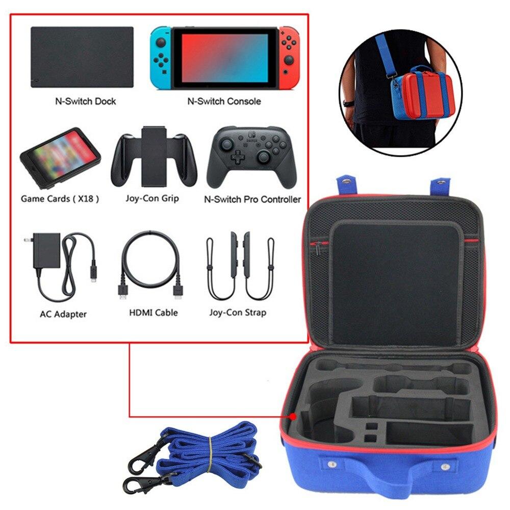 XBERSTAR grande capacité voyage stockage sac à bandoulière sac à main housse pour NS Switch Protection paquet pochette boîte accessoires
