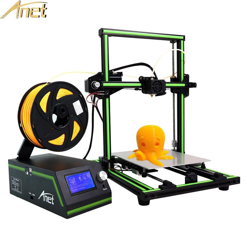 Анет E10 A8 A6 Авто 3D-принтеры высокая точность DIY самостоятельной сборки Desktop 3D-принтеры Наборы DIY широкоформатной печати Размеры Бесплатная 10 м нити