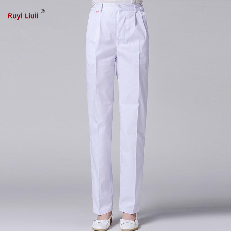Work Trouser Doctor Nurse Uniform Bottoms Cotton More Pockets Dental Medical Scrub Pants SPA Nursing Scrub Pants