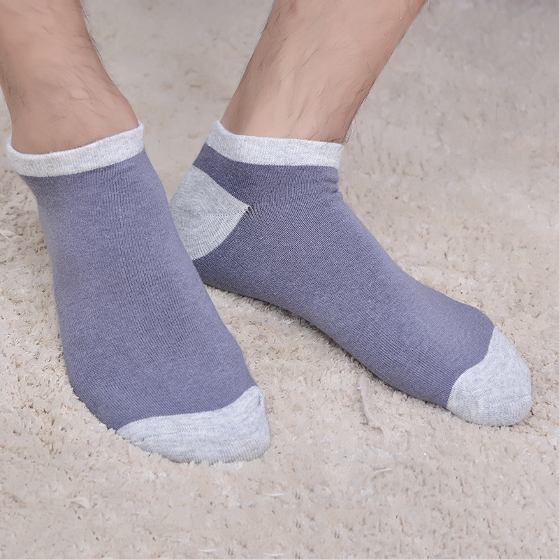 Thin Summer Cotton Patchwork Men Funny Socks Male Fashion Sock Mens Breathable Deodorant Comfortable Chic 5 Colors Shallow Mouth