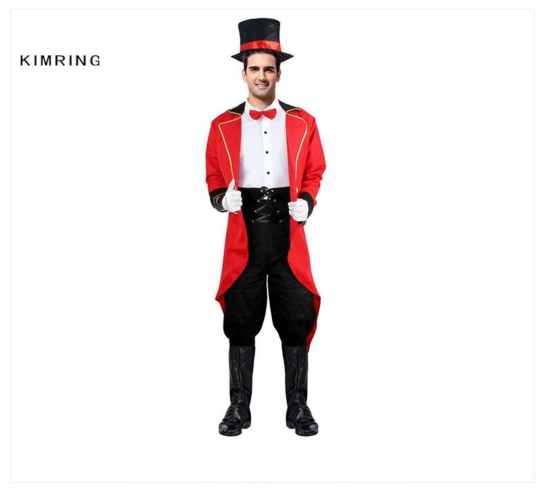 8c727f31a7 Kimring Ringmaster Halloween Costume Adult Men s Lion Tamer Costume ...