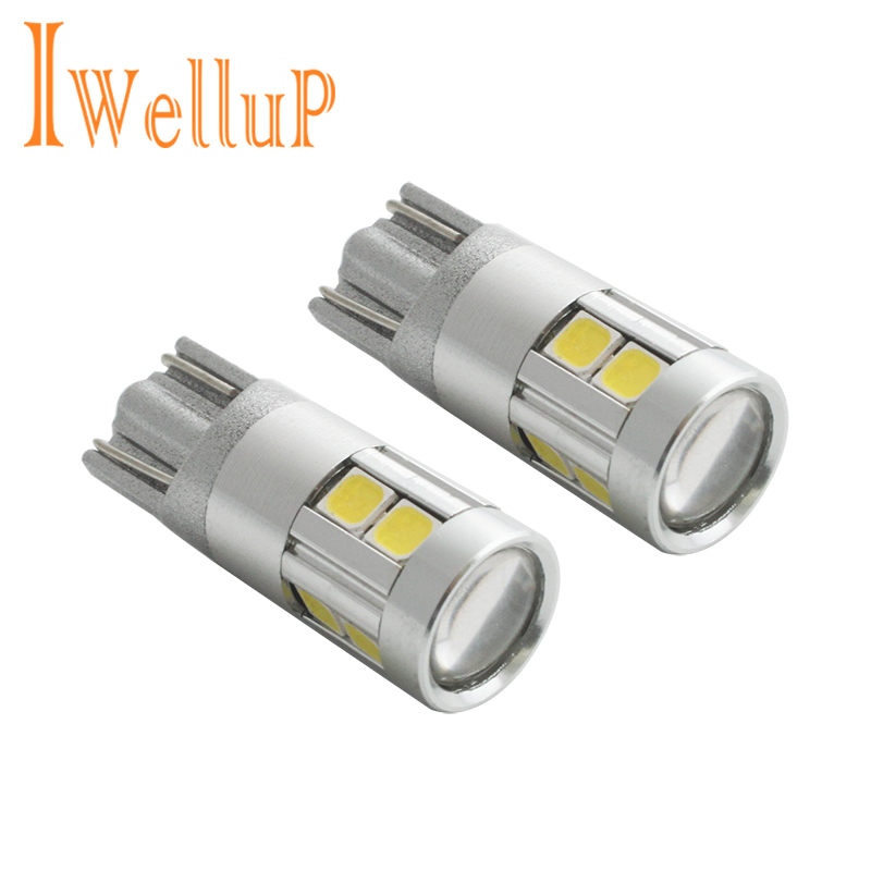2017 New 2x W5W LED 12V T10 Car lamps Cars Interior Light Marker Lamp 168 194 501 Bulb Wedge Parking Auto for Lada Car Styling