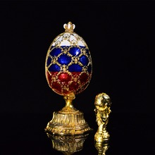 Beautifully Blue Faberge Eggs Decoration