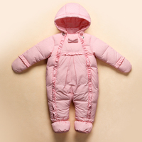 New 2017 Baby Winter Romper Down Feather One Piece Newborn baby girl Warm jumpsuit Fashion baby's snow wear Kid Climb Clothes