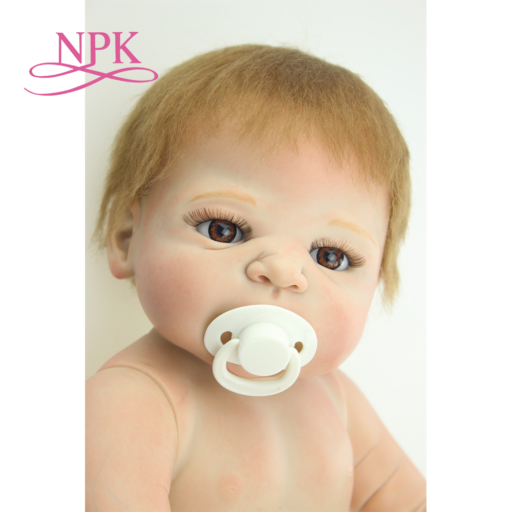 NPK free shipping hotsale reborn baby doll full vinyl body doll drawing victoria by SHEILA MICHAEL