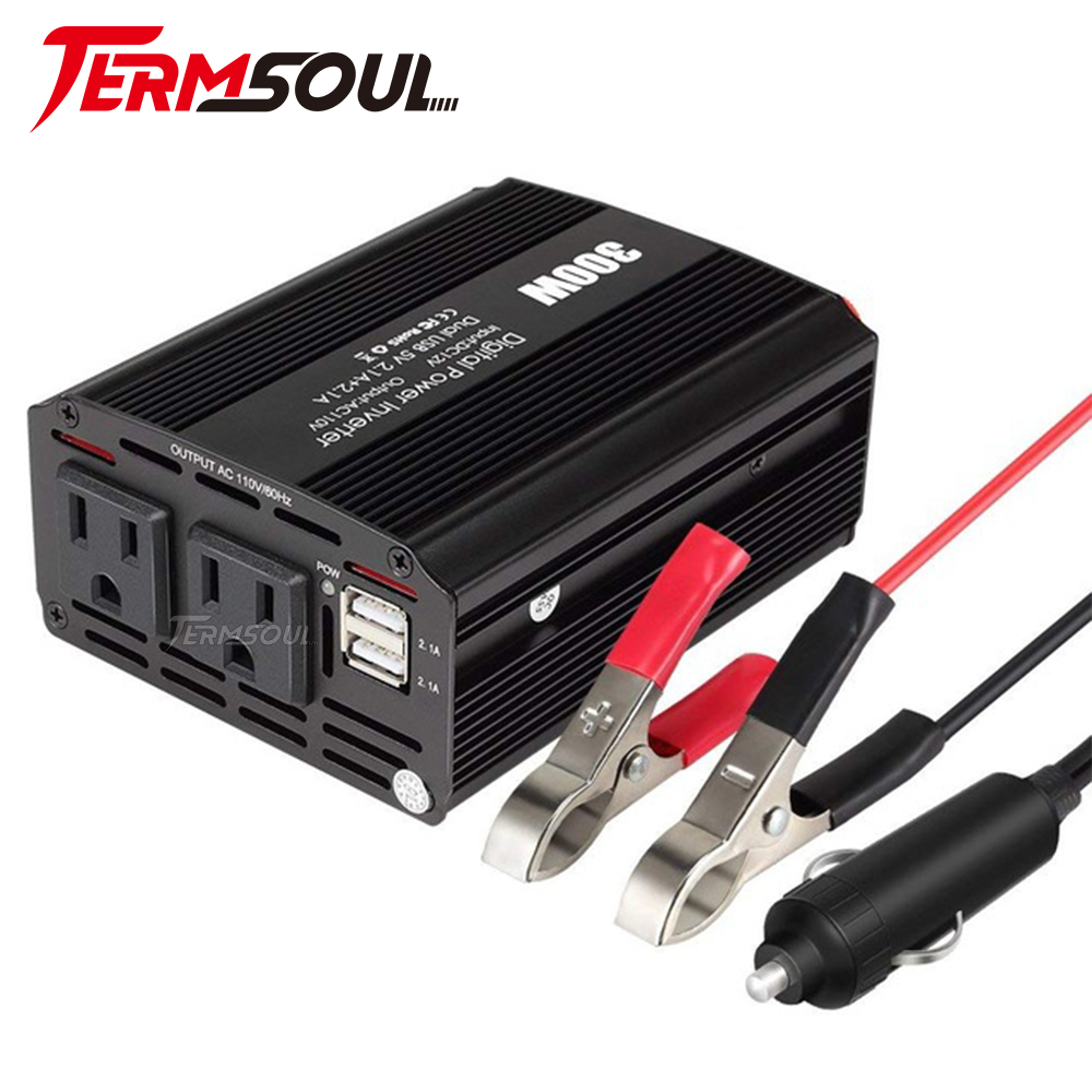 United Termsoul300w Car Power Inverter Dc Car Converter With Dual Ac Outlets And Dual 2.1a Usb Ports Car Portable Power Socket Adapter Video Games Back To Search Resultsconsumer Electronics