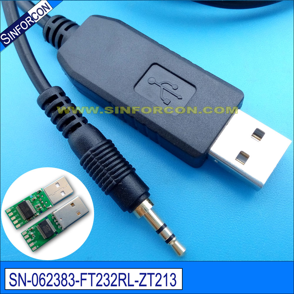 android host usb rs232 serial cable with 3.5mm audio jack for ...