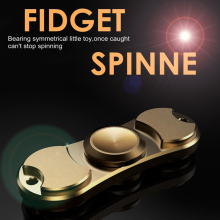 2017 Hot New Brass Finger Gyro Anti Stress Relief Toys Stress Wheel Rotating Metal Spiral Hand Spinner Adult Toy Fidget Spinner
