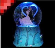 Rotating music box snow Valentine new 160818