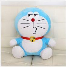 lovely plush pout doraemon toy cute stuffed doraemon doll perfect gift about 35cm