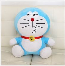 lovely plush pout doraemon toy cute stuffed doraemon doll perfect gift about 35cm
