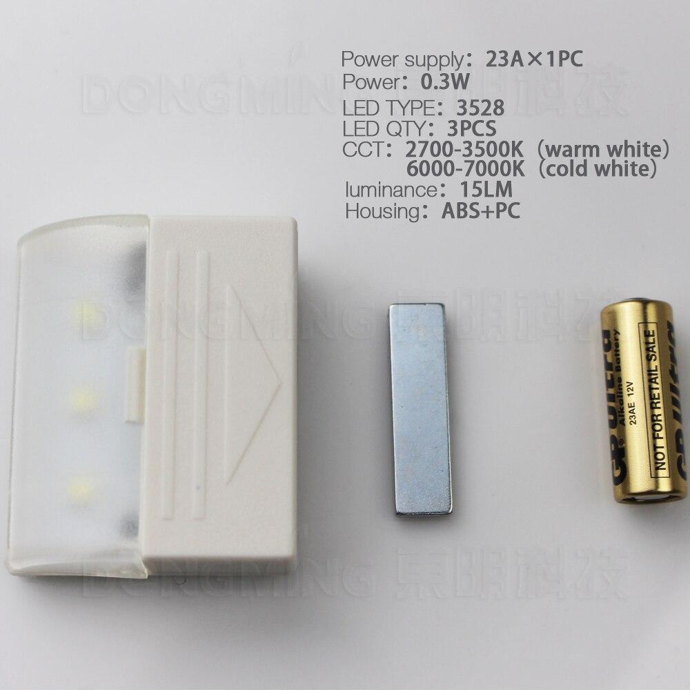 wireless 3528 magnetic light sensor led motion cabinet light 23a