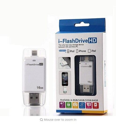 Горячая! Молния flash drive 8 ГБ 16 ГБ 32 ГБ Usb Pen Drive 6 Язык Otg Usb Flash Drive для iphone 5/5s/5c/6/6 Плюс/ipad Pendrive