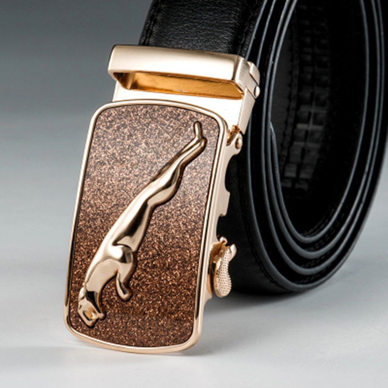 New Arrival Fashion Designer   Belts   for Men Sliding Buckle Ratchet Luxury Leather Men   Belt   Automatic ceinture homme