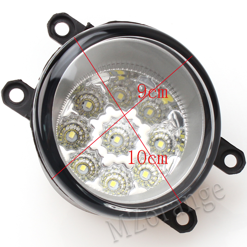MZORANGE Fog Light Fog Lamp Wire 9 LED for TOYOTA AVENSIS AURIS RAV 4 III CAMRY Corolla PRIUS YARIS 2003 2015 Wire Harness A Set in Car Light Assembly from Automobiles Motorcycles
