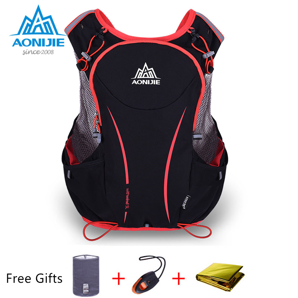 AONIJIE Marathon Running Vest Pack 5L Lightweight Water Hydration Backpack for Women Men Bicycling Hiking Camping Jogging adjustable pro safety equestrian horse riding vest eva padded body protector s m l xl xxl for men kids women camping hiking