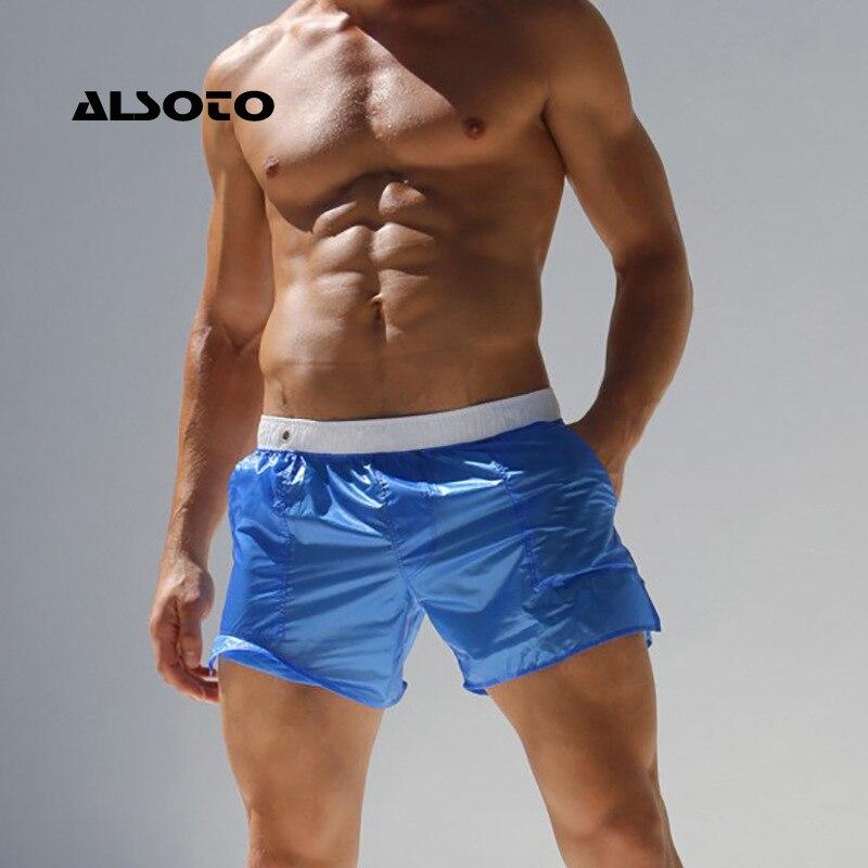 Men's Clothing Himealavo Brand Man Mens Swimwear Beach Board Shorts Trunks Pants Bathing Suits Men Boxer Wear Gay Choice Materials