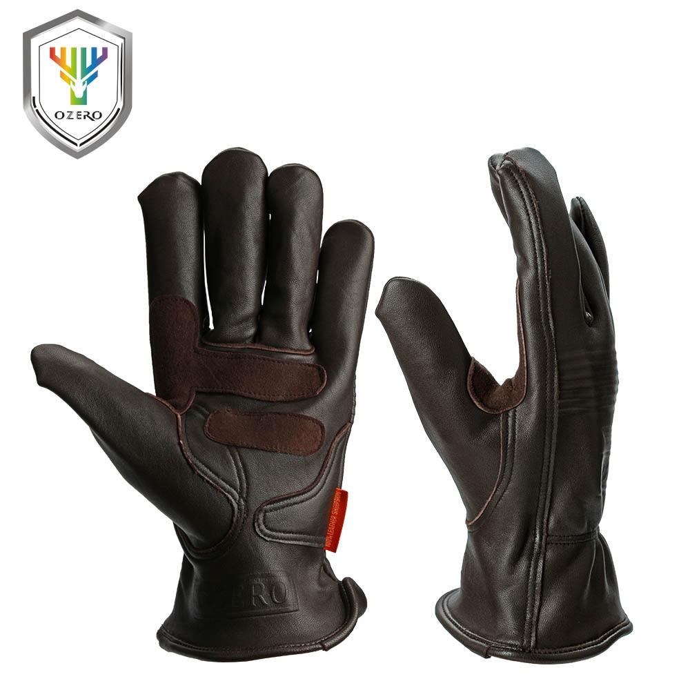 Prix pour Ozero sport en cuir moto moto gants étanche anti froid anti snowboard randonnée chasse vélo sport gants pour hommes 0009