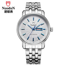 Nuodun High Quality Stainless Steel Wrist Watch For Men Brand Watches Waterproof Man Fashion Causal Quartz-Watch Montre Homme