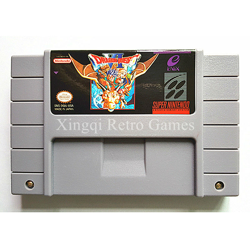 Super Nintendo SFC SNES Game Dragon Quest VI Video Game Cartridge Console Card US English Version