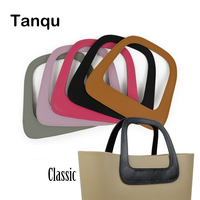 TANQU New Obag White Black Oblong Faux PU Leather Handle For OBAG Classic Bag Body O