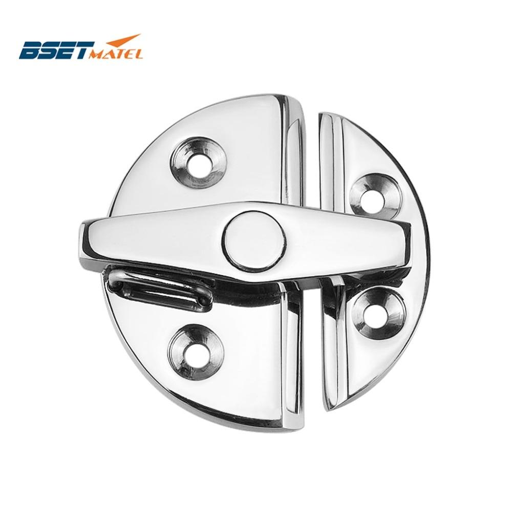 Marine Grade Stainless Steel 316 Boat Door Cabinet Hatch Round Turn Button Twist Catch Latch Marine Hardware Accessories