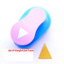 Большой 2 ''4,2 см* 3,4 см треугольник furador бумажный дырокол для скрапбукинга Дырокол ремесло perfurador diy для перфорации бумаги Резак эва перфоратор