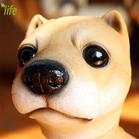 DMLS Birthday Gift Dog Figurines Pup Ornaments Kid Toy Lovely Resin Dolls Cute Dog Home Decoration 1 piece Free Shipping