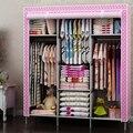 Простой шкаф ткань гардероб большая спальня общежитие корпус пыли ткань шкаф сочетание складной бесплатная разборка специальный