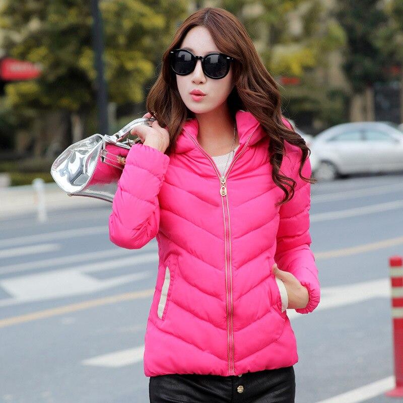 e47dcf1fd40 Down Padded Cotton Jacket Women Fall/Winter Women's Wear Korean Short Slim  Hooded Size Lightweight Down Jacket Down Coat MT090-in Parkas from Women's  ...