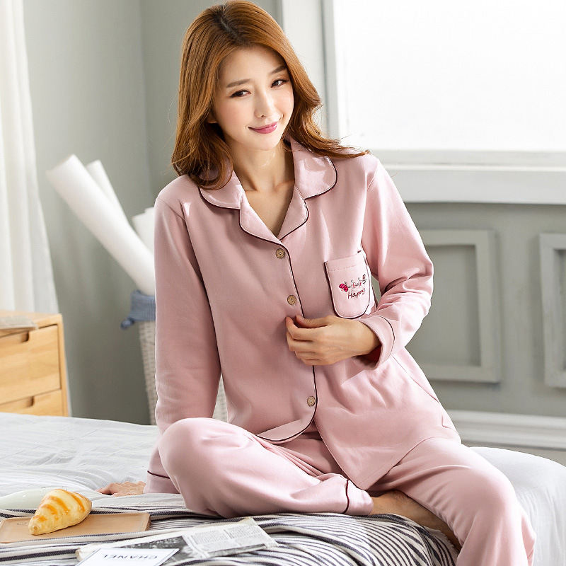 Elegant cotton Sexy Women Clothes for autumn long   Sets   O-Neck Sleepwear Satin   Pajama   women's   Pajamas   long Sleeve   Pajama     Set   3XL
