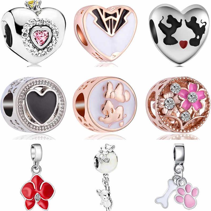 Лидер продаж сплав обуви семья дерево Сова звезды цветы эмалевые Бусины Fit Pandora талисманы браслеты для женщин DIY интимные аксессуары
