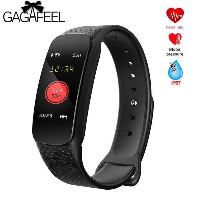 Gagafeel L6 Smart Bracelet Pedometer FitnessTracker Heart Rate Wristband Blood P